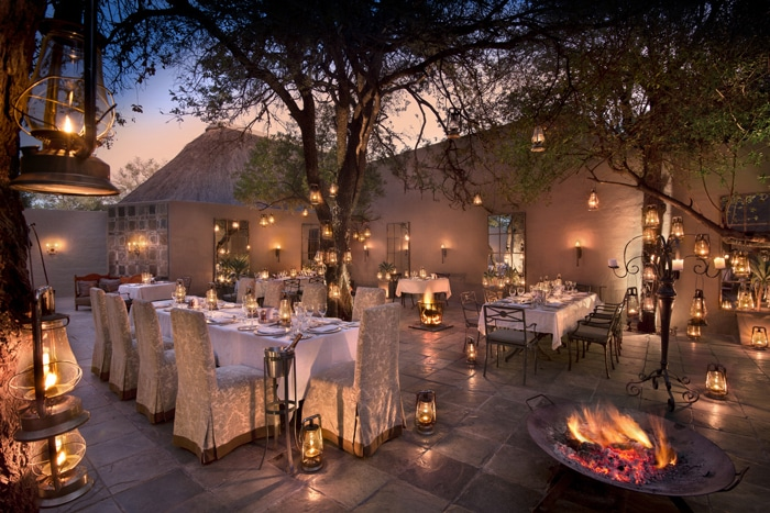 andBeyond Ngala Safari Lodge Courtyard Dining