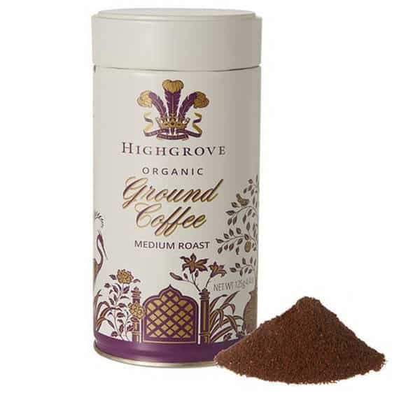Organic Ground Coffee by Highgrove