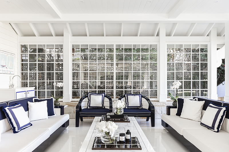 Palm Beach interior design project by Blainey North