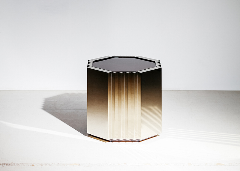 """Chasm Side Table from Blainey's new furniture exhibition """"Man & the Machine"""""""