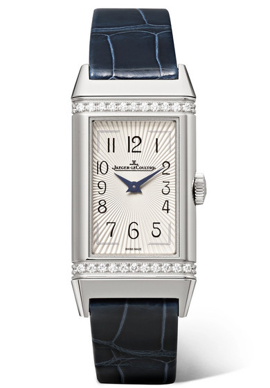 Jaeger-LeCoultre Reverso One Medium 20mm Stainless Steel, Diamond and Alligator Watch