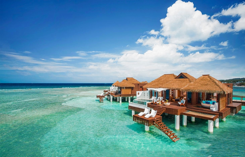 Sandals Royal Caribbean in Montego Bay overwater bungalows