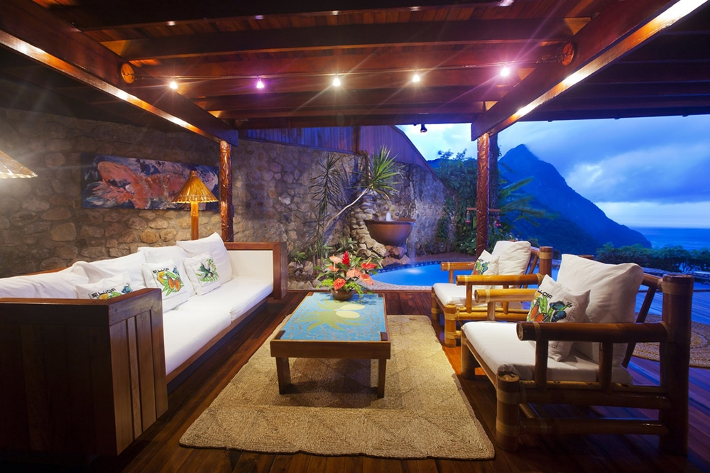Suite at Ladera Resort in St. Lucia