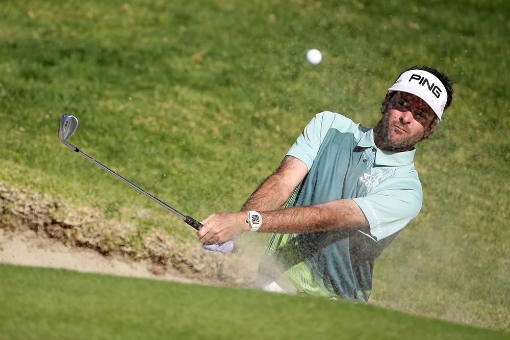 Bubba Watson wearing a Richard Mille watch