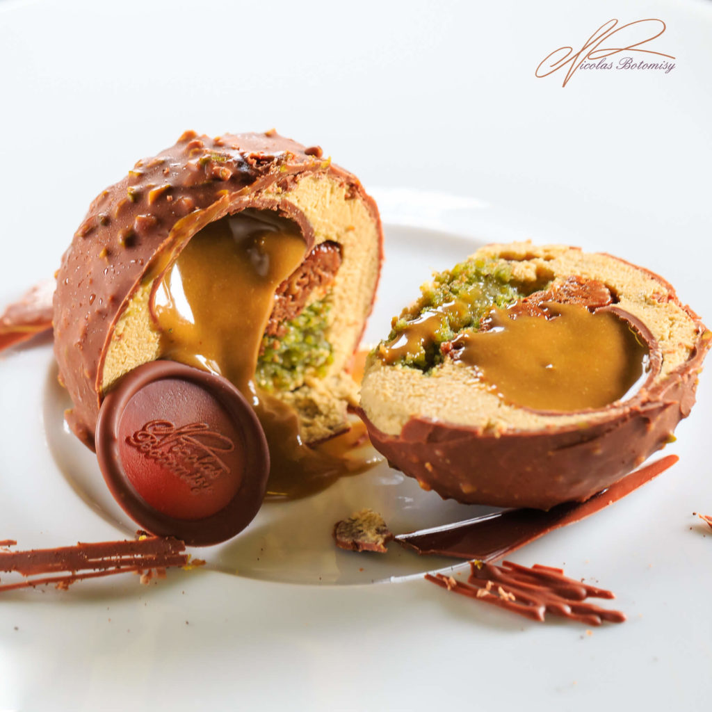pastry creation by Chef Pâtissier Nicolas Botomisy