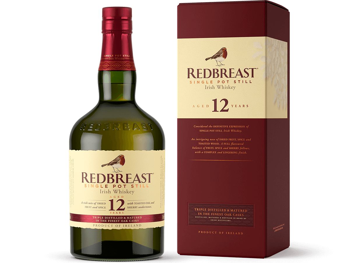 Redbreast 12 year old Bottle of irish whiskey