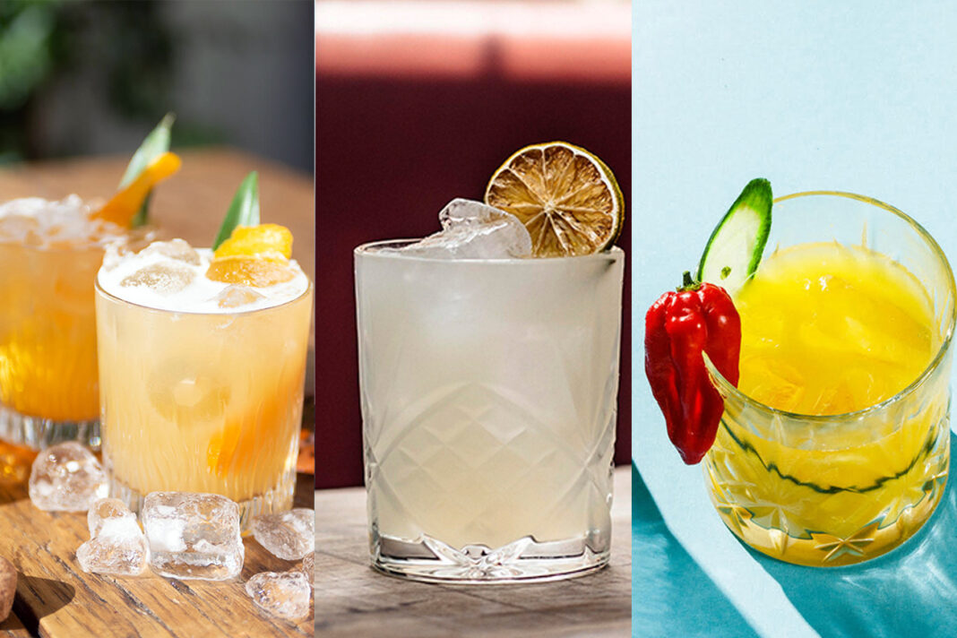 Margarita cocktails