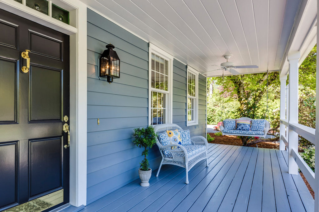 beautifully painted home deck