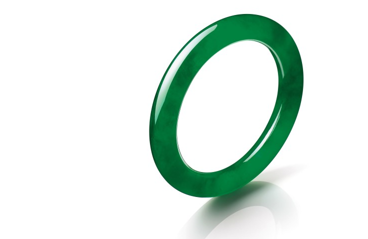 ":Circle of Happiness"", an exceptional Jadeite Bangle"