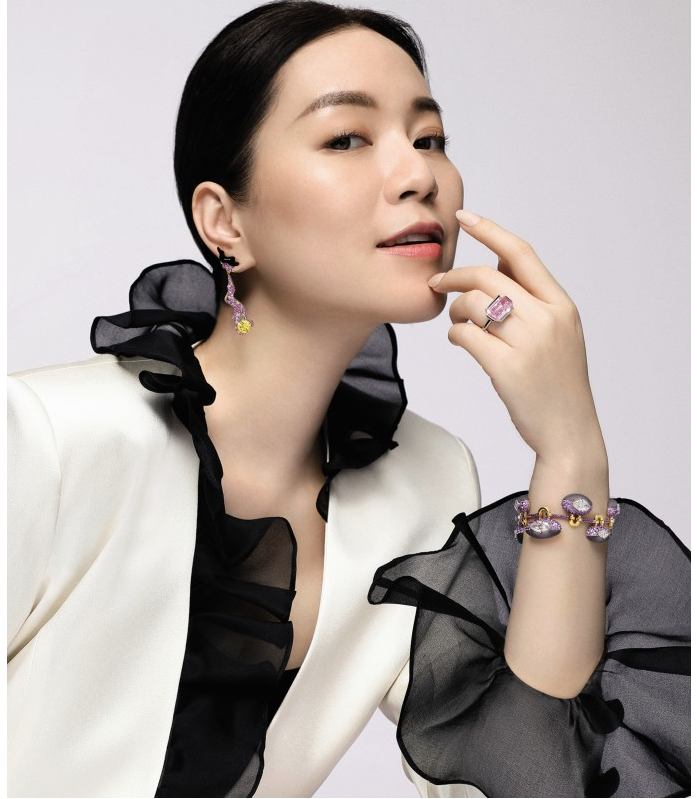 Zelia Zhong wearing highlights from Sothebys Magnificent Jewels Spring Sale, Styling and Photography by Olivia Tsang