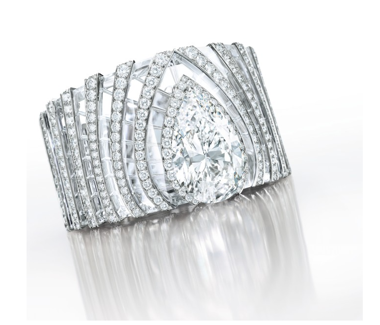 A diamond and rock crystal bangle-bracelet by Cartier est. $5,160,000 - $8,390,000)