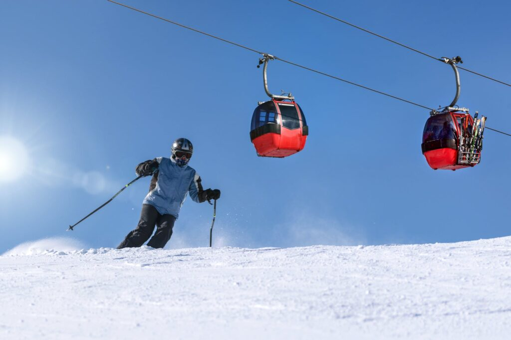 the perfect winter vacation skiing downhill