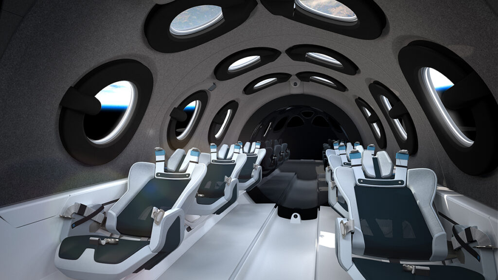 Virgin Galactic Spaceship Seats Rotated Back In Space