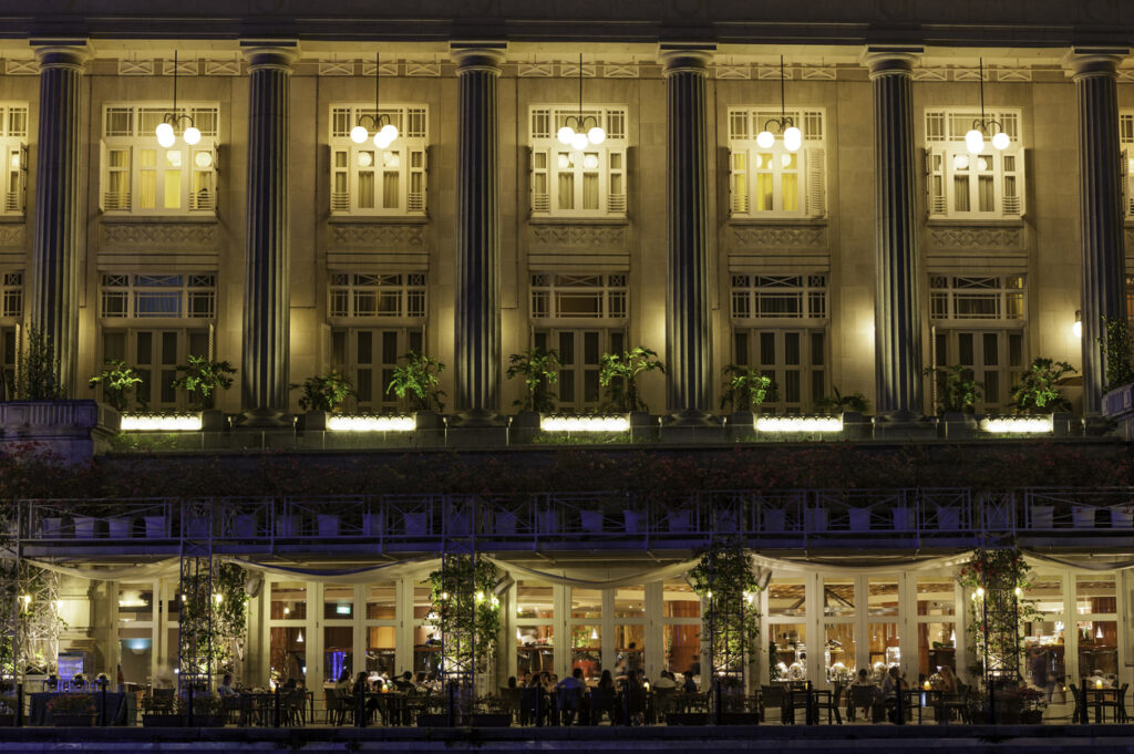Luxury hotel and restaurant diners Singapore