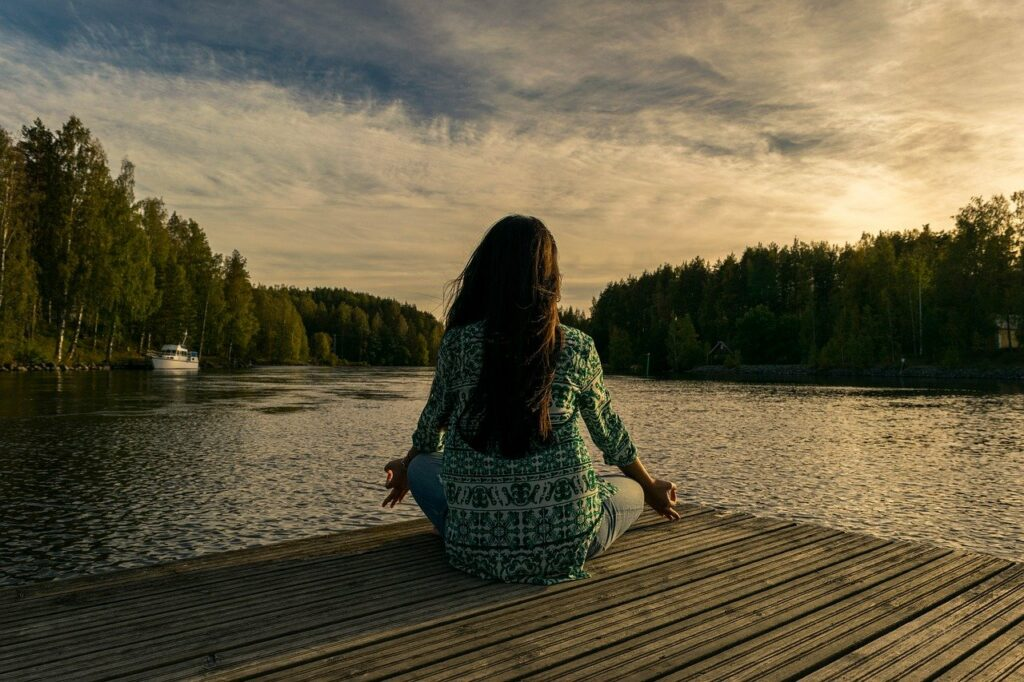 relax at home by meditating