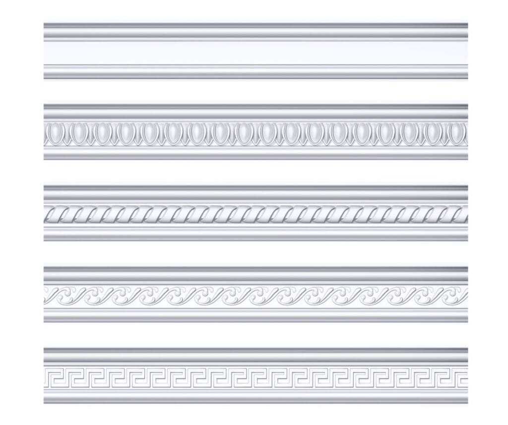 Collection of different skirting boards